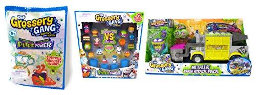 Grossery Gang Metallic Trash Attack Pack, Grossery Gang VS The Clean Team and Grossery Gang Blind Bag Bundle