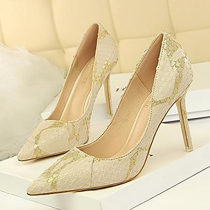 be64a7a95419d Amazon.com : GTVERNH Women's shoe/Fashion Retro High-Heeled Shoes ...