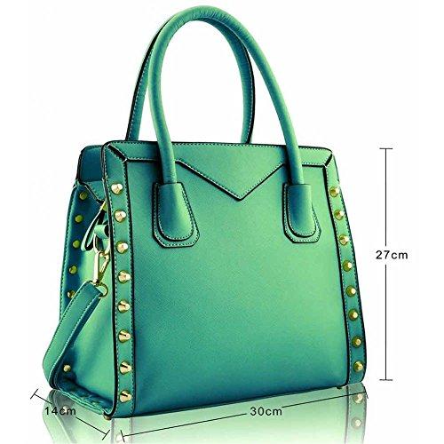 TrendStar - Bolso al hombro para mujer Turquesa - Smaragd