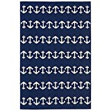 Liora Manne Monaco Nautical Rug, Indoor/Outdoor, 42″ by 66″, Navy