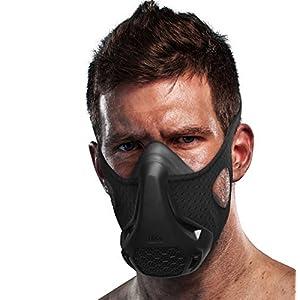 TEC Workout Mask - 16 Training Breathing Levels, Gain Benefits of High Altitude Elevation Training for Running, Biking, Cardio, Sports; Increases Strength, Endurance, Stamina [+ Free Bonus Carry Case]