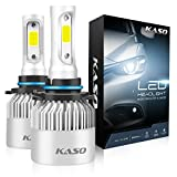 9006 LED Headlight Bulbs - KASO All-in-One Conversion Kit HB4 8000LM 72W/Set 6500K Cool White Highly Waterproof 3 Years Warranty (HB4 9006)