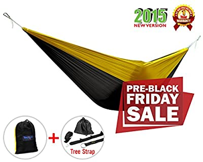Yes4All Lightweight Camping Hammock with Strap & Carry Bag – Multi Color Available (Single)