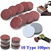 100pcs 2 Inch 50mm Sander Disc 80 to 3000 Grit Sanding Polishing Pad
