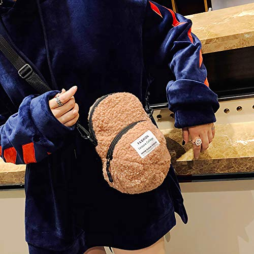 Clearance ❤ Women Bag JJLIKER Personality Hat Shoulder Bag Lovely Hairy Handbag