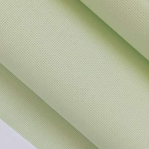 59″x 1 Yard 14ct Counted Cotton Aida Cloth Cross Stitch Fabric (Light Green)