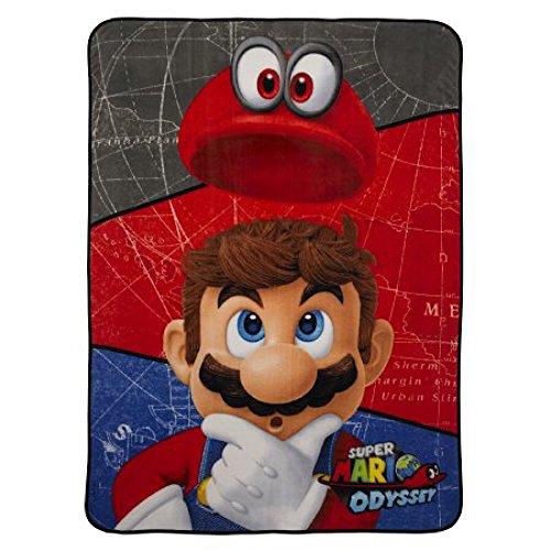 Super Mario Odyssey World Plush Throw Blanket - 62 in. x 90 (Class Travel Blanket Set)