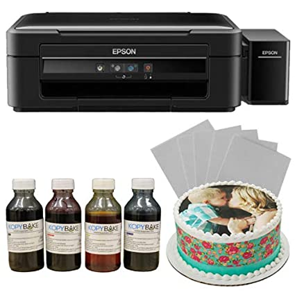 KOPYBAKE Photocake Printer kit A4 Complete Set Including 25 Icing Sheets  and 4 Ink Bottles (CMYK 100ml)