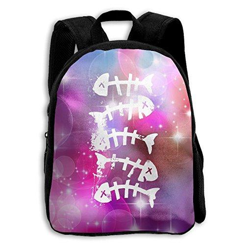 Bones Fish School Backpack Children Printed Oxford Fabric Backpack - Orlando Shopping Airport