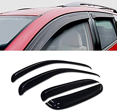 Auto Ventshade 94514 Original Ventvisor Side Window Deflector Dark Smoke 4-Piece Set for 2007-2014 Chevrolet Tahoe//GMC Yukon
