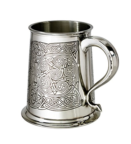 - Wentworth Pewter Celtic Spirals 1pt Pewter Tankard