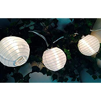 Spring Rose(TM) White Paper Lantern Party String Lights. These Are Perfect For Wedding Decorations. Great For Small Get-Togethers or Large Events. Be Sure You Add These to Your List of Party Supplies!!!