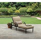 Better Homes and Gardens Englewood Heights Chaise Lounge, Black