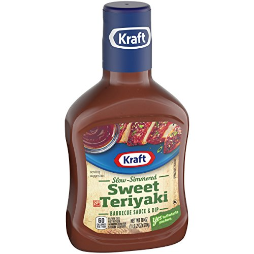 Kraft Barbecue Slow Simmered Sweet Teriyaki Sauce & Dip, 18