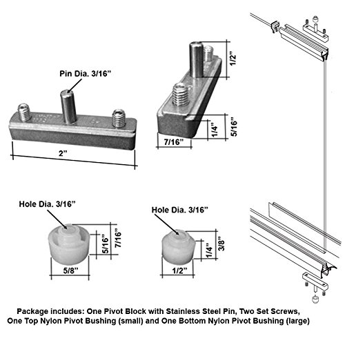 (Replacement Pivot Assembly Kit for Swing Shower Doors)