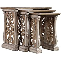 Hooker Chatelet 3 Piece Nesting Table Set in White