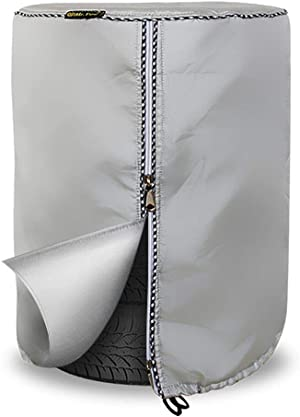 Seasonal Tire Cover,Seasonal Tire Tote & Tire Storage Bag,Waterproof Dust-Proof (Silver Coated,Fits up to 28