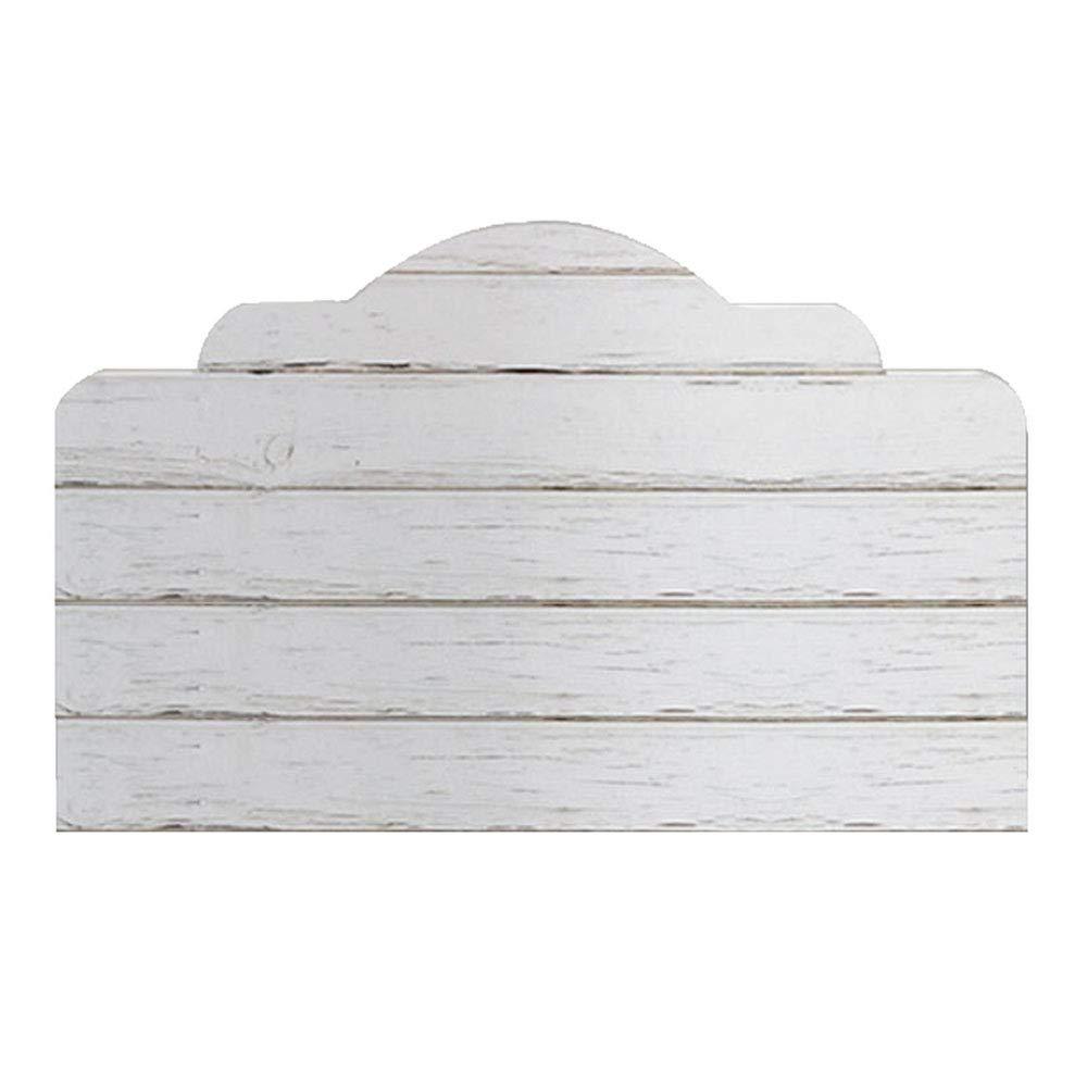 auto-adh/ésif amovible,56cm/×99cm sticker mural art d/éco de maison Autocollant de t/ête de lit de la texture du bois 3D blanc