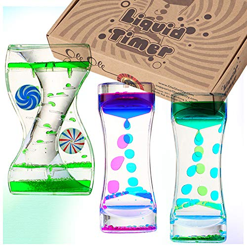 Bubble Timer: Liquid Motion Bubbler for Kids and Adults 3 Bottles ()