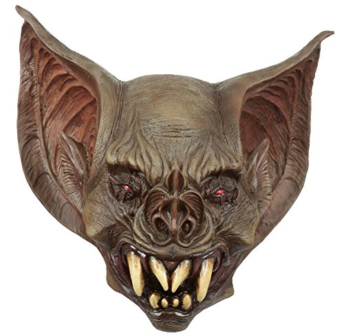 Ghoulish Productions Creepy Bat Creature Adult Latex Mask Dracula Vampire Halloween Costume - Creature Mask