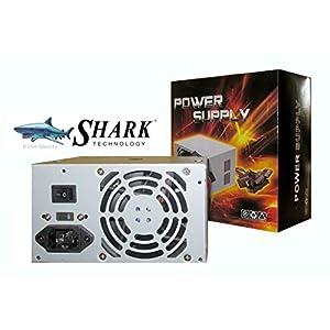 SHARK TECHNOLOGY ATX-500 SATA4 500-Watt 80mm Fan ATX 12V V2.0 4-SATA 24pin PC Power Supply Unit for Desktop Computer ATX Case/ PS3 Mini Tower Chassis