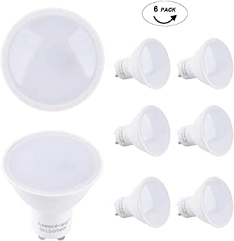 Greenforg Pack de 6 Bombillas LED GU10, 6.5W COB LED Equivalente a 50W Lámpara Incandescente, Blanco Cálido 3000K, 500 Lumen, AC 175-265V, 3 años de garantía (120° Beam Angle 6.5W): Amazon.es: Iluminación