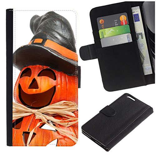 [Funny Halloween Pumpkin Man] for Huawei P8 Lite (2017) / P9 Lite (2017) / GR3 (2017), Flip Leather Wallet Holsters Pouch Skin Case -