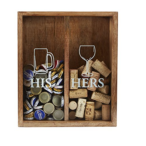 His Beer Cap/Her Wine Cork Display Box