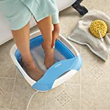 HoMedics Compact Pro Spa Collapsible Foot Spa Bath Foot Massager with Heat