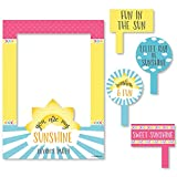 Big Dot of Happiness Custom You Are My Sunshine - Personalized Birthday Party Baby Shower Selfie Photo Booth Picture Frame & Props - Printed on Sturdy Material