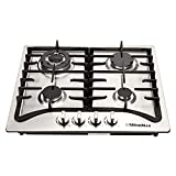 WindMax® 23' Stainless Steel 4 Burner Built-In Stoves LPG/NG Gas Cooktops Cooker