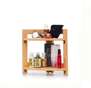 QXWL Estantería Escritorio simple de bambú Estantería pequeña Estantería de almacenamiento de oficina Estantería de almacenamiento ...