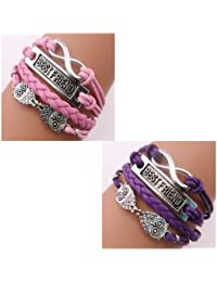 ACUNION™ Twinkle Handmade Fashion Charms Friendship Gift - Braid Personalized Suede Leather Bracelet
