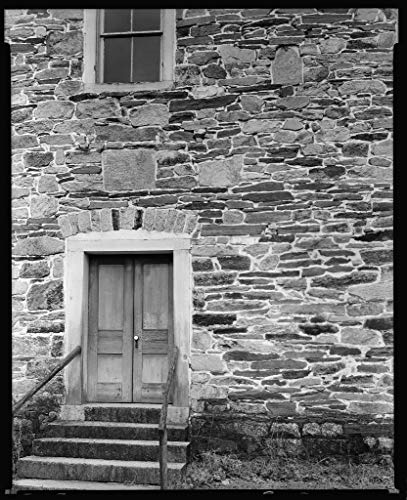 Vintography 16 x 20 Reprinted Photo of Southern Architectural Grace (Lower Stone) Church, Faith vic, Rowan County, North Carolina 1939 Johnston Frances Benjamin 11a by Vintography