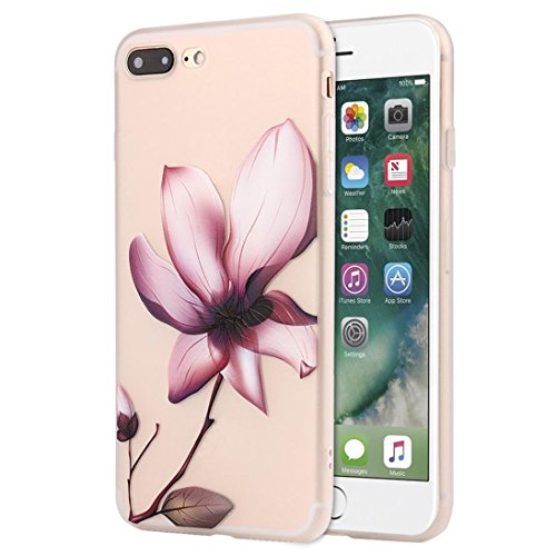 IPhone 8 / 7 Plus Case , Transer Flowers Soft Silicone Protective Case Cover For IPhone 8/7 Plus 5.5 Inch (L)