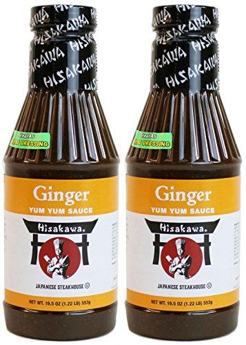 Hisakawa Premium Ginger Yum Yum Sauce, 19.5 Ounce Bottle (Pack of (Japanese Steak)