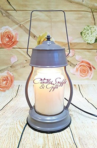 Grey Electric Candle Warmer Lantern Lamp With Dimmer Switch Flameless Safe Around Children And Pets Candles Sniffs & Gifts