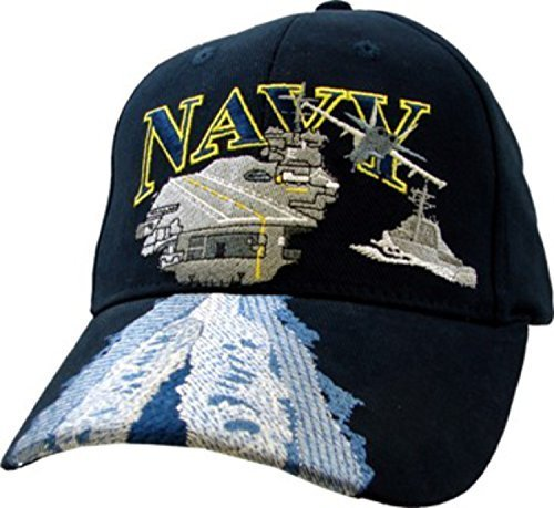 Navy Carrier (U.S. Navy Aircraft Carrier Ball Cap,Blue,Standard)