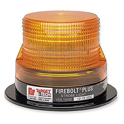 Federal Signal 220200-02 Firebolt Plus Strobe Beacon, Class 3, Permanent Mount with Amber Dome: Automotive