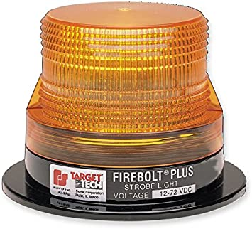 Class 3 Magnetic Mount with Amber Dome Federal Signal 220208-02 Firebolt Plus Strobe Beacon