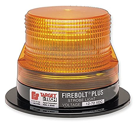 Federal Signal 220208-02 Firebolt Plus Strobe Beacon Magnetic Mount with Amber Dome Class 3