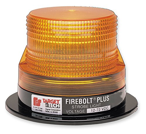 Federal Signal 220208-02 Firebolt Plus Strobe Beacon, Class 3, Magnetic Mount with Amber Dome