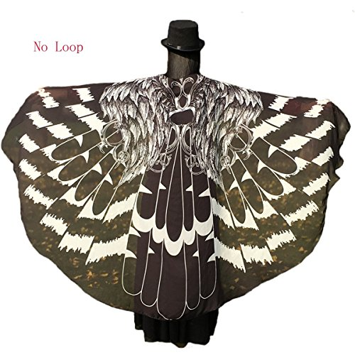 Soft Fabric Butterfly Wings Shawl Fairy Ladies Nymph Pixie Costume Accessory (Black(77.5