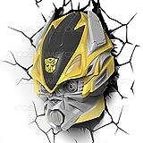 hotcoser® Transformers Bumblebee Autobot 3D FX Deco Wall Light Room LED Night Nightlight