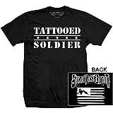 "Steadfast Brand Men's ""Tattooed Solider"" Crew Neck T-Shirt Large Black"