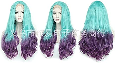 Little cutie Big Wave peluca doble degradado de color cabello ...