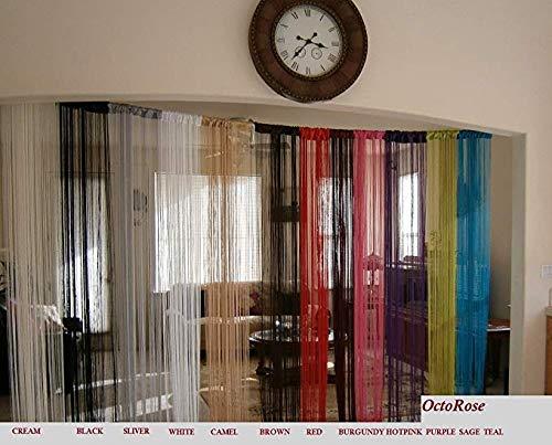 Amazon.com: OctoRose String Thread Fringe Sexy Curtain Panel 40x110 inch (Black): Home & Kitchen