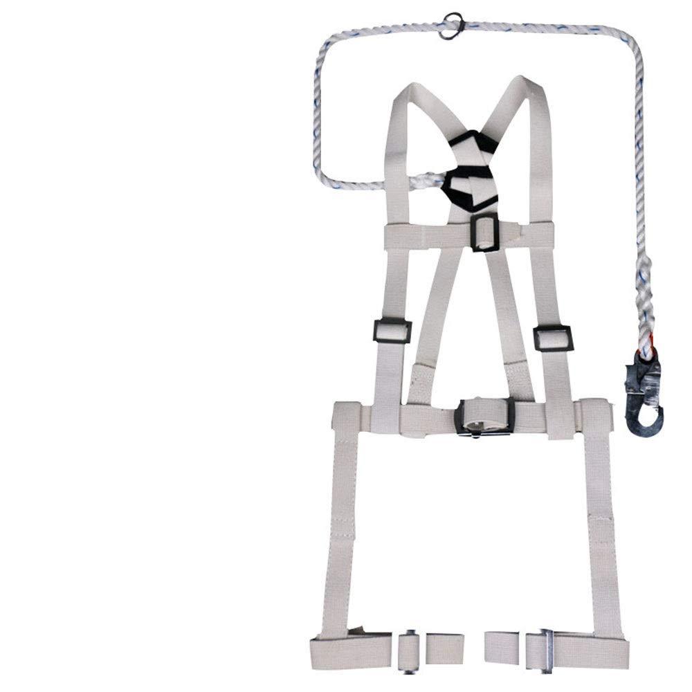 Nekovan 全身用ベルト難燃性安全ハーネス耐火電気技師屋外空中作業救助 (色 : ホワイト) ホワイト