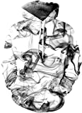 Indrah Realistic Big Pockets Drawstring Hoodie Sweatshirt (L/XL, Smoke)