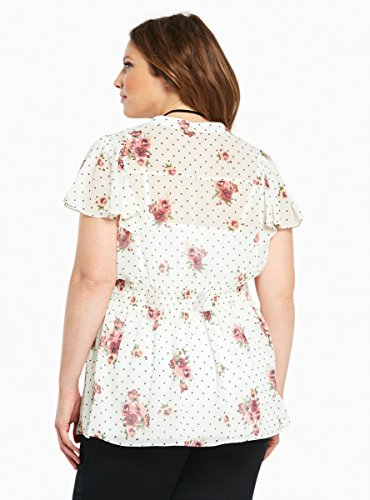 Floral Print Empire Flutter Sleeve Top